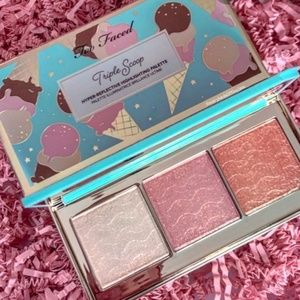 🍦BNIB Too Faced Triple Scoop Highlighting Palette
